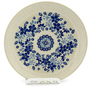 Polish Pottery Salad Plate -Bleu Lace