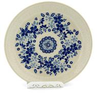 Polish Pottery Salad Plate -Bleu Lace