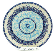 Polish Pottery Salad Plate -Snow Day