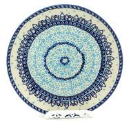 Polish Pottery Salad Plate -Snow Day