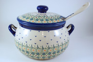 Polish Pottery Soup Tureen - Daisy