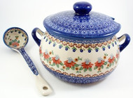 Polish Pottery Soup Tureen - Cone Flower