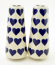 Polish Pottery Tall Salt & Pepper-Valentine