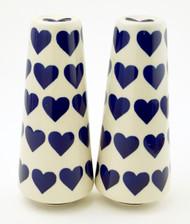 Polish Pottery Tall Salt & Pepper-Valentine