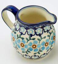 Polish Pottery Creamer-- Topaz