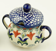 Polish Pottery Sugar Bowl  Regal