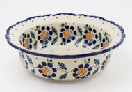 "Polish Pottery 8.5"" Rim  Bowl -Sunlit Treasure"