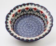 """Polish Pottery 8.5"""" Rim  Bowl -Regal"""