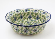 "Polish Pottery 8.5"" Rim  Bowl -Morning Glory"