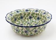 "Polish Pottery 8.5"" Rim  Bowl -Morning Glory"
