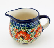 Polish Pottery Creamer - Circle of Poppies