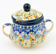 Polish Pottery Sugar Bowl - Gratza