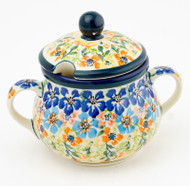Polish Pottery Sugar Bowl - Gratza