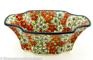 "Polish Pottery 11""Ornate Bowl - Blossom"