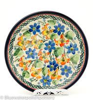 "Polish Pottery 8"" Salad Plate- Garden Party"