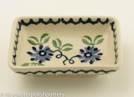 Polish Pottery Dipping Bowl- Woven Basket