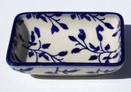 Polish Pottery Dipping Bowl- Blue Spray