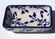Polish Pottery Dipping Bowl- Blue Spray