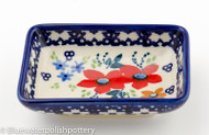 Polish Pottery Dipping Bowl- Love in Bloom
