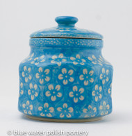 Polish Pottery 0.5L Canister - Cerulean
