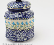 Polish Pottery 1 L Canister - Blue Tulip
