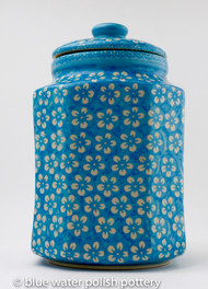 Polish Pottery 2.5L Canister - Cerulean