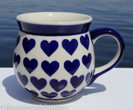 Polish Pottery 16oz Bubble Mug- Valentine