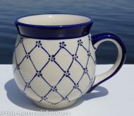 Polish Pottery 16oz Bubble Mug- Classic Beauty