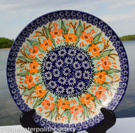 "Polish Pottery Stoneware 10"" Dinner Plate - Marigold"
