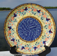"Polish Pottery Stoneware 10"" Dinner Plate - Gifts from the Garden"