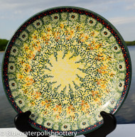"Polish Pottery Stoneware 10"" Dinner Plate - Sunlit Meadow"