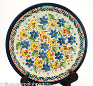 "Polish Pottery Stoneware 11"" Dinner Plate - Garden Party"