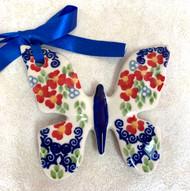 Polish Pottery Butterfly Ornament Impatiens