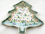 Tree Platter Santa's Reindeer