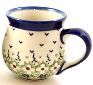 Polish Pottery Stoneware Bubble Mug - Daisy
