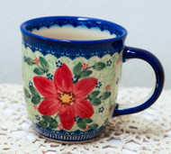 12 oz Mug Poinsettia