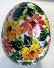 Polish Pottery  Unikat Easter Egg - In Bloom