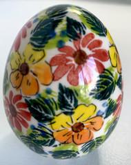 Polish Pottery  Unikat Easter Egg - In Bloom
