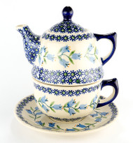 TEAPOT WITH CUP & SAUCER Lily