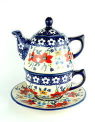 TEAPOT WITH CUP & SAUCER LOVE IN BLOOM