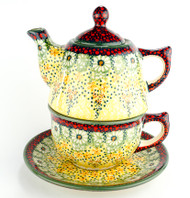 TEAPOT WITH CUP & SAUCER SUNLIT MEADOW