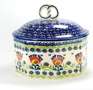 Polish Pottery Pretzel Box - Summer's Day