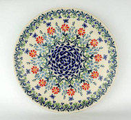 """Polish Pottery Stoneware 10"""" Dinner Plate BUTTERFLY DELIGHT"""