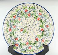 "Polish Pottery Stoneware 10"" Dinner Plate RIBBON"