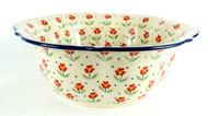 "11"" Polish Pottery  Retro Bowl -Simple Elegance"