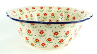 "11"" Polish Pottery  Retro Bowl -Simple Elegance"