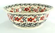 "11"" Polish PotteryRetro Bowl -Manhattan"