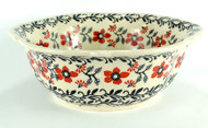 "11"" Polish PotteryRetro Bowl -Manhattan"