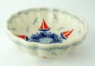 Polish Pottery Berry Bowl-Sail Away