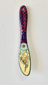 Polish Pottery Butter Knife - Sunlit Meadow